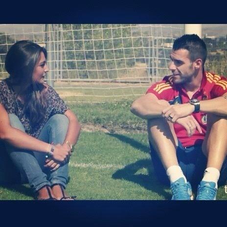 Lorena González en una entrevista con Álvaro Negredo