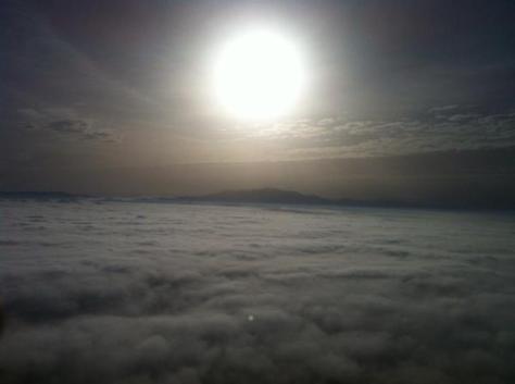 La Plana de Vic cubierta por una densa boira