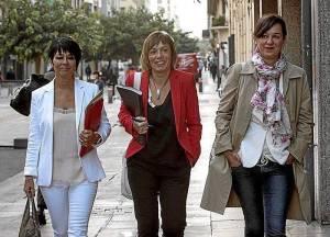 Maddalen Iriarte, Miren Larrion y Jasone Agirre. Las tres mujeres que lideran el nuevo proyecto político de EH Bildu en Euskadi. FOTO | http://ehbildu.eus/